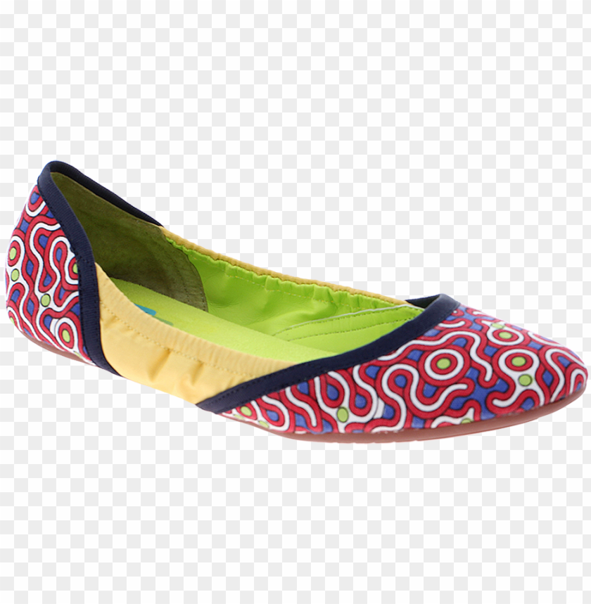 free PNG hari om in red print women's ballet flat - ballet flat PNG image with transparent background PNG images transparent