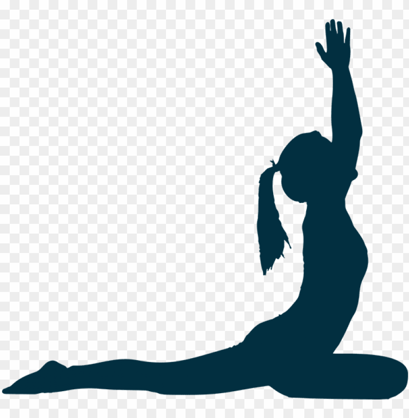 Hatha Yoga Poses Silhouette Png Image With Transparent Background Toppng