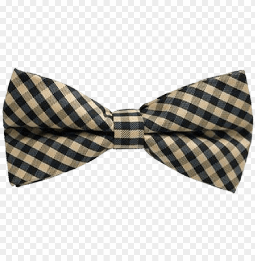 free PNG hautebutch tan and black checkered bow tie - bow tie plaid PNG image with transparent background PNG images transparent