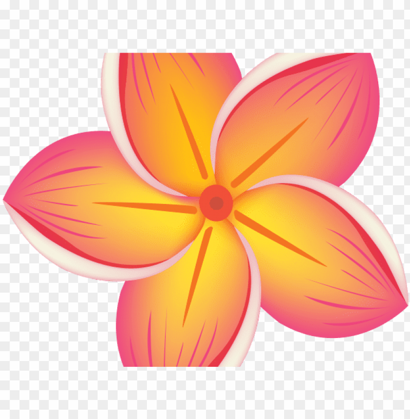 Hawaiian Flower Clipart Beautiful Cartoon Flower Png Image With Transparent Background Toppng
