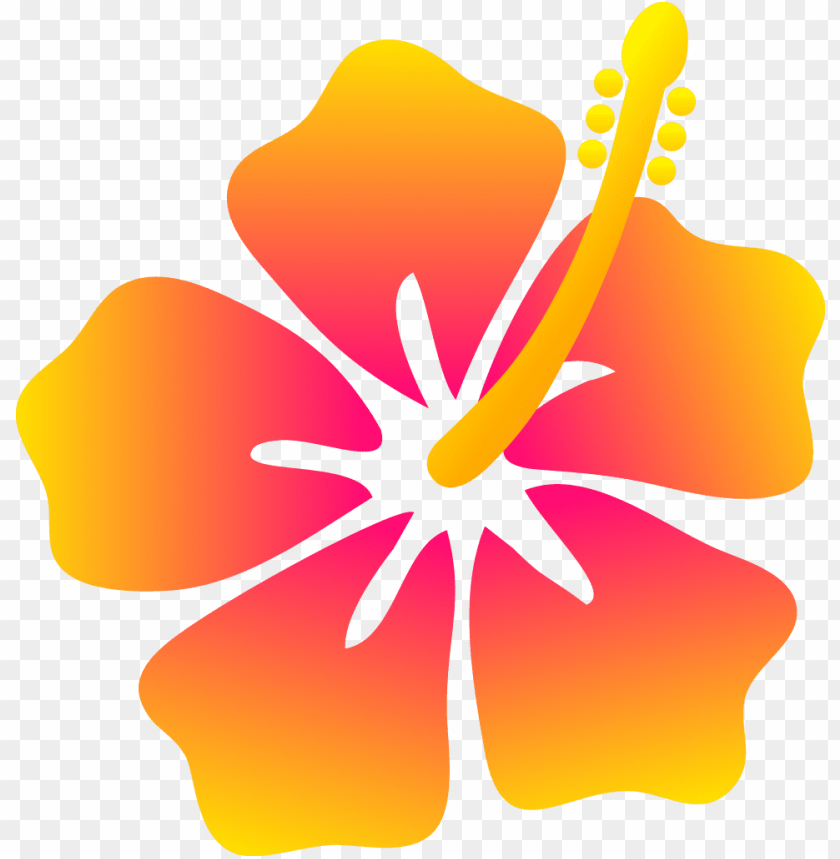 Hawaiian Flowers Cartoon Hawaiian Flowers Clip Art Png Image With Transparent Background Toppng