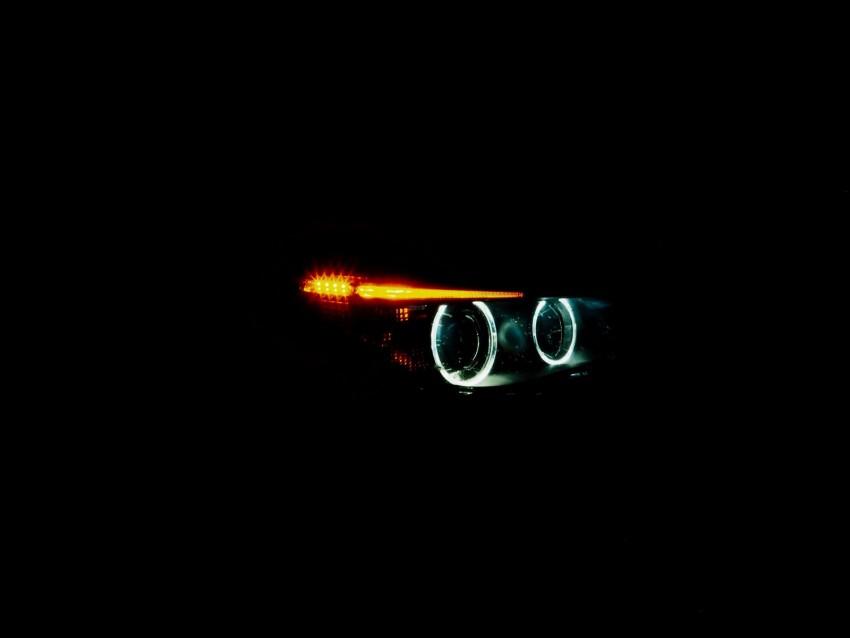 free PNG headlight, lights, leds, optics, auto, dark background PNG images transparent
