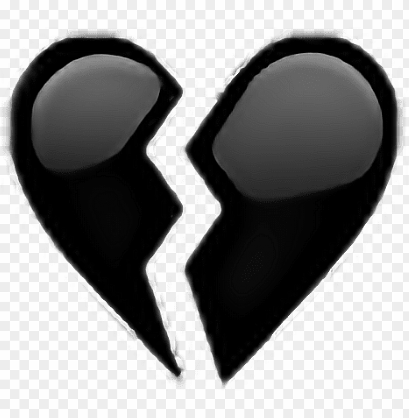 free PNG heart blackheart black tumblr stuff brokenheart broken - broken black heart PNG image with transparent background PNG images transparent