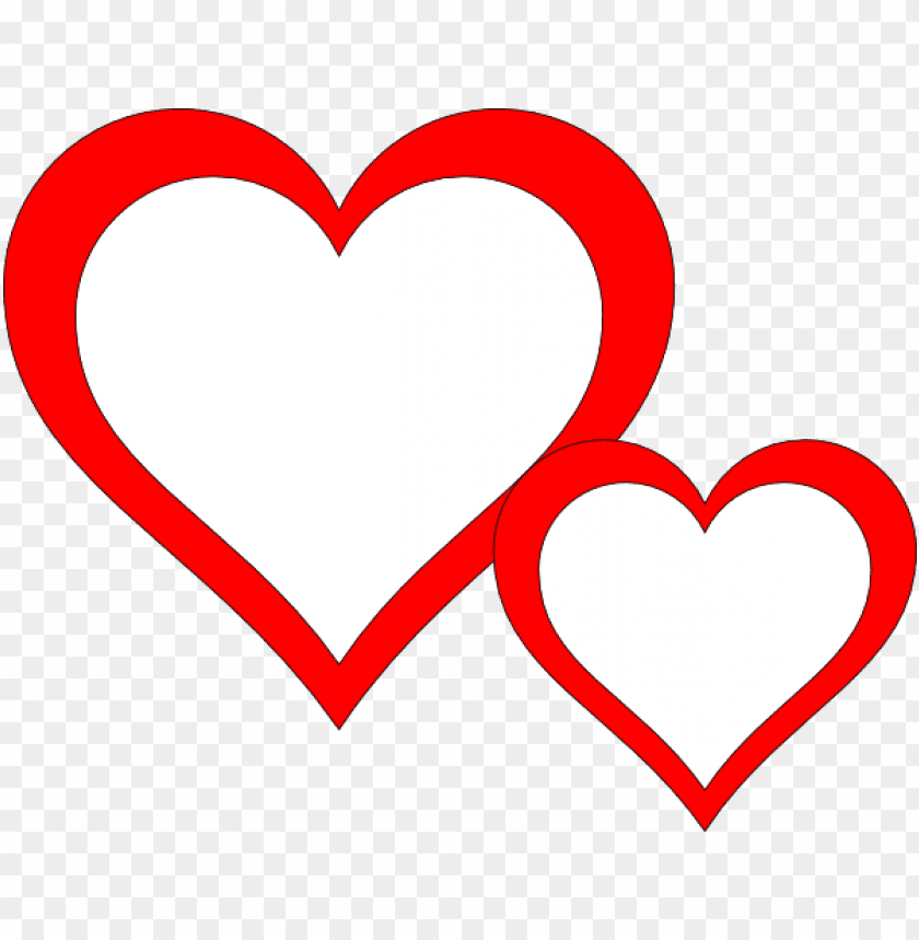 free PNG heart clipart black and white - two hearts clipart black and white PNG image with transparent background PNG images transparent