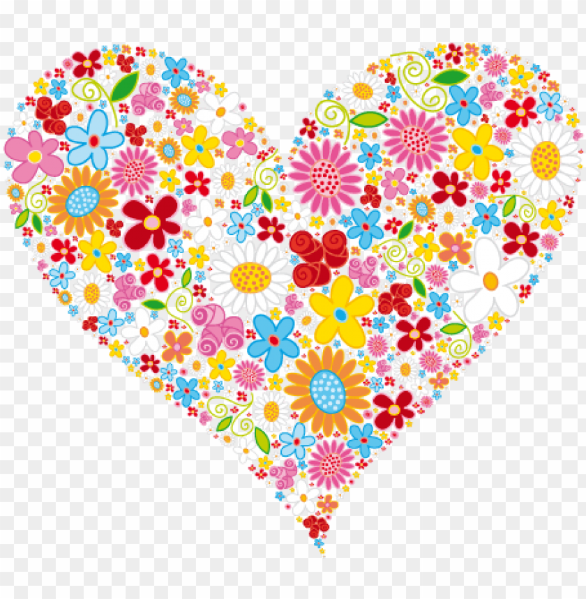 heart clipart heart & flower designs heart of flowers - heart of flowers clip art PNG image with transparent background@toppng.com