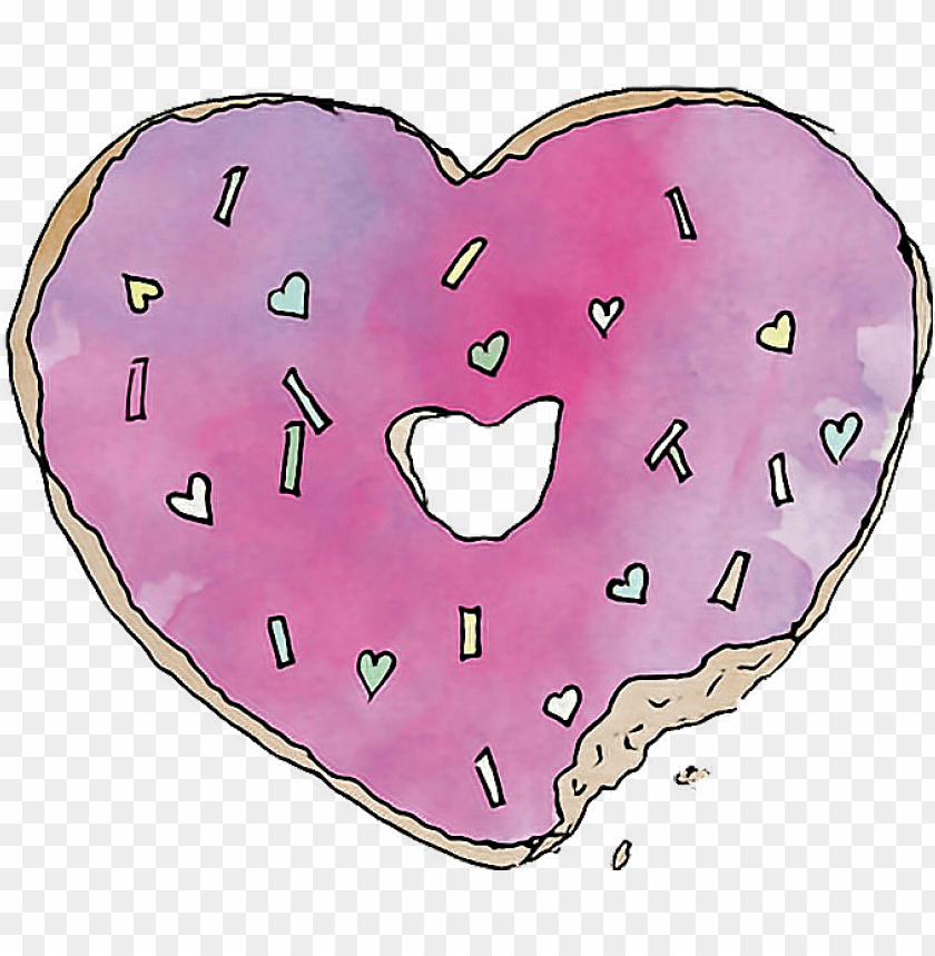 free PNG heart cool transparent tumblr donuts png heart cool - png tumblr transparent donut PNG image with transparent background PNG images transparent