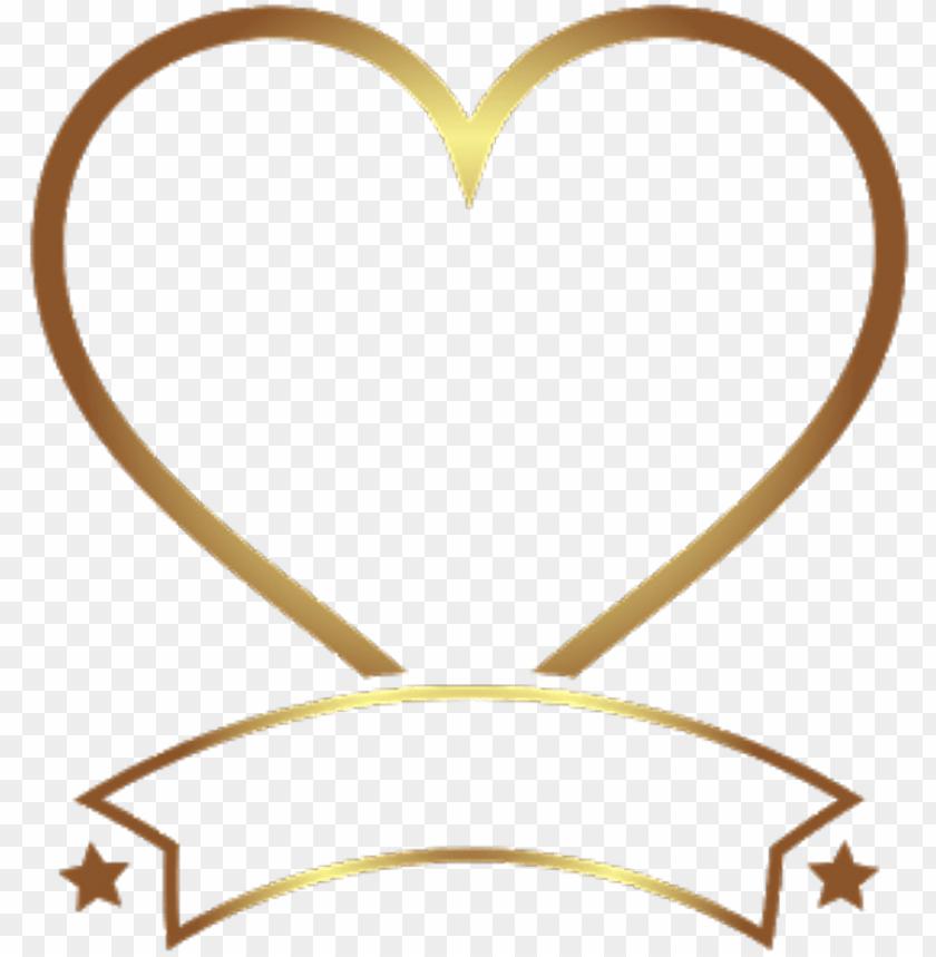 Heart Coração Gold Golden Ouro Dourado At Lucianoballack Png