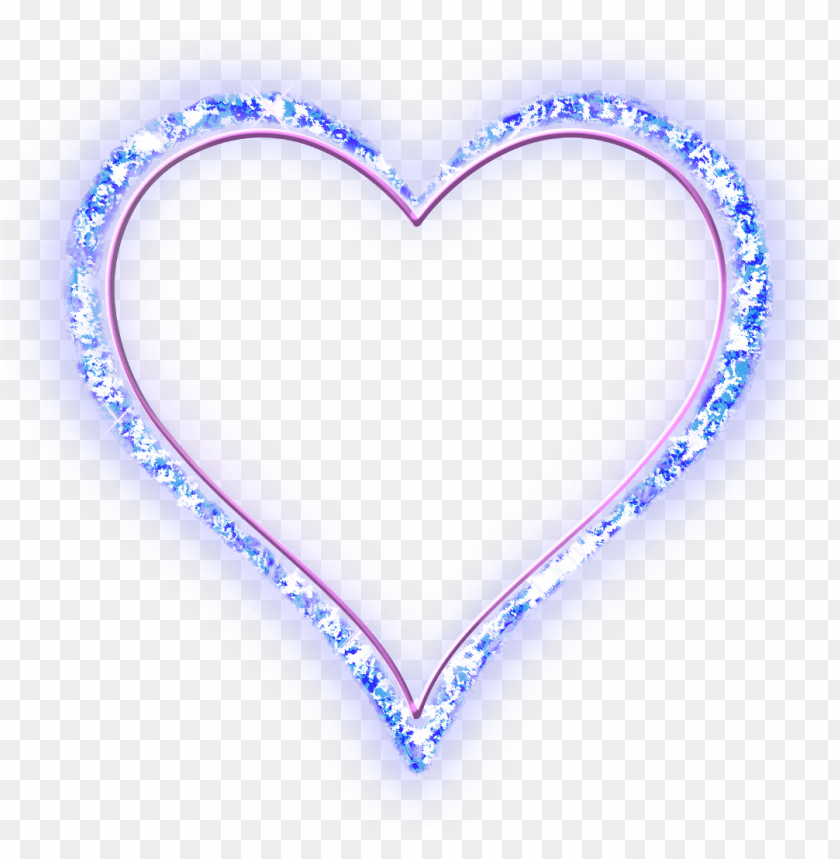 free PNG heart design texture diamond jewel glow blue neon beaut - n letter dp for whatsa PNG image with transparent background PNG images transparent