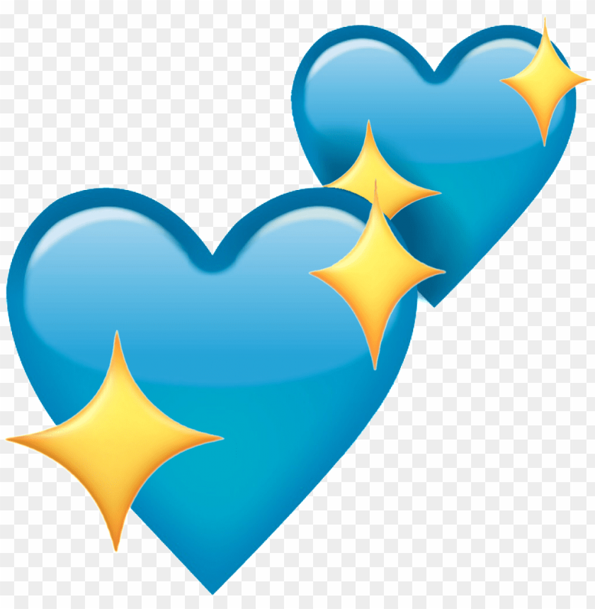 free PNG heart emoji blueheart blue sparkle sparklingheart heart - blue heart emoji PNG image with transparent background PNG images transparent