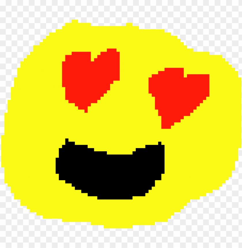 free PNG heart eyes emoji - heart eyes emoji pixel art PNG image with transparent background PNG images transparent