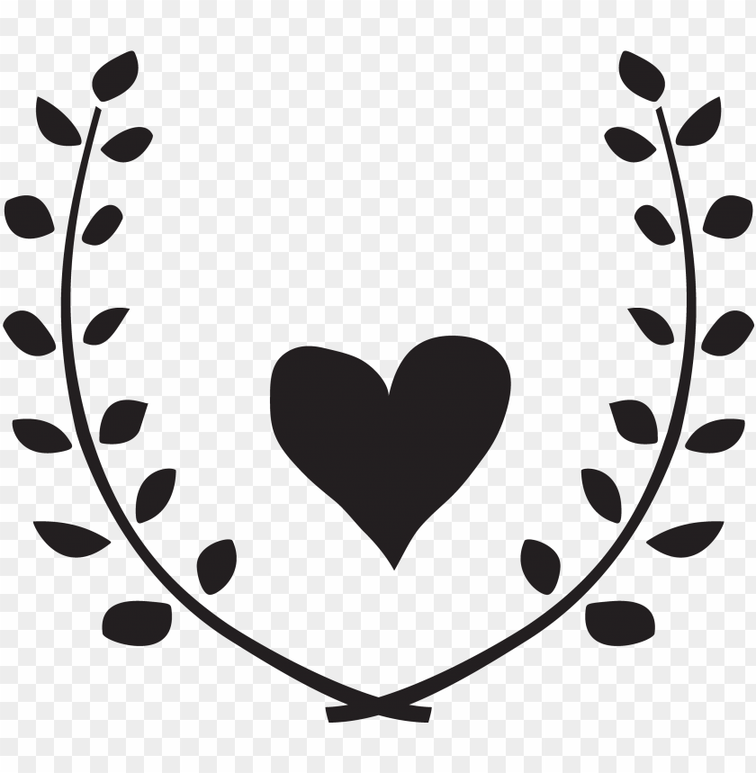 free PNG heart garland monogram free cut file vector black and - lavender floral wreath clipart PNG image with transparent background PNG images transparent