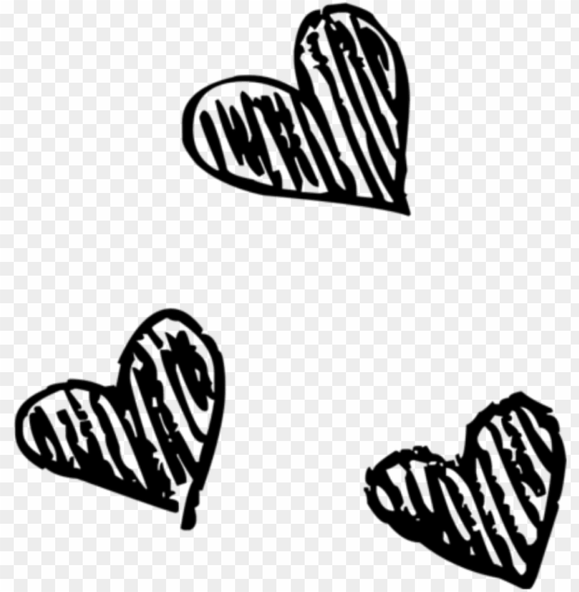 free PNG heart hearts black tumblr drawing draw png tumblr drawn - black and white overlay PNG image with transparent background PNG images transparent