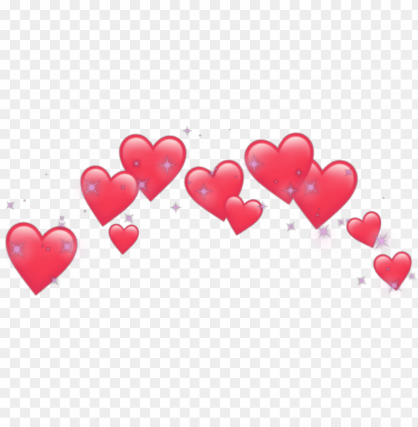 free PNG heart hearts crown emoji emojis tumblr png heart crown - transparent heart crown PNG image with transparent background PNG images transparent
