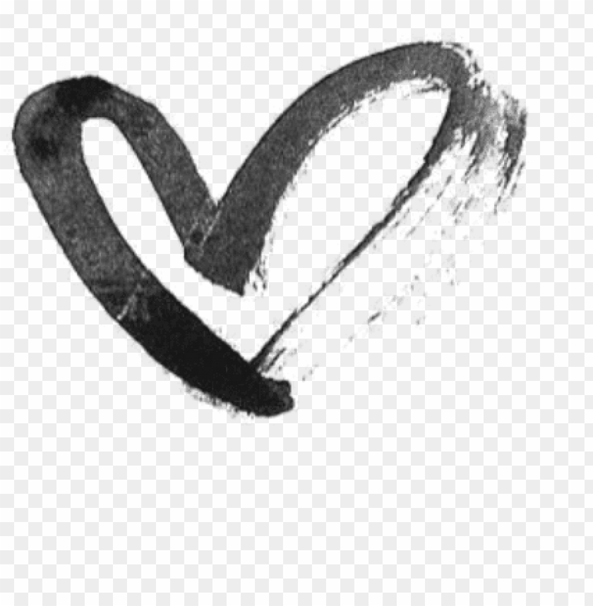 free PNG heart hearts drawing black tumblr draw - heart PNG image with transparent background PNG images transparent
