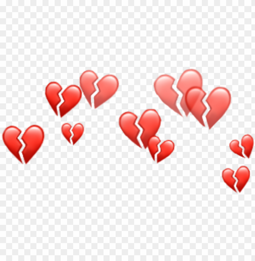 free PNG heart hearts emoji emojis crown red tumblr - aesthetic heart crown PNG image with transparent background PNG images transparent