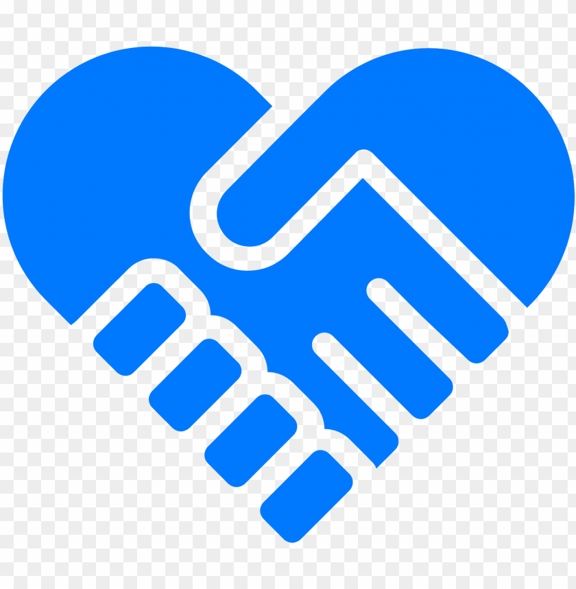 free PNG heart icons handshake - wave blue hand heart PNG image with transparent background PNG images transparent