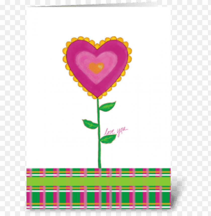 free PNG heart in bloom greeting card - heart PNG image with transparent background PNG images transparent