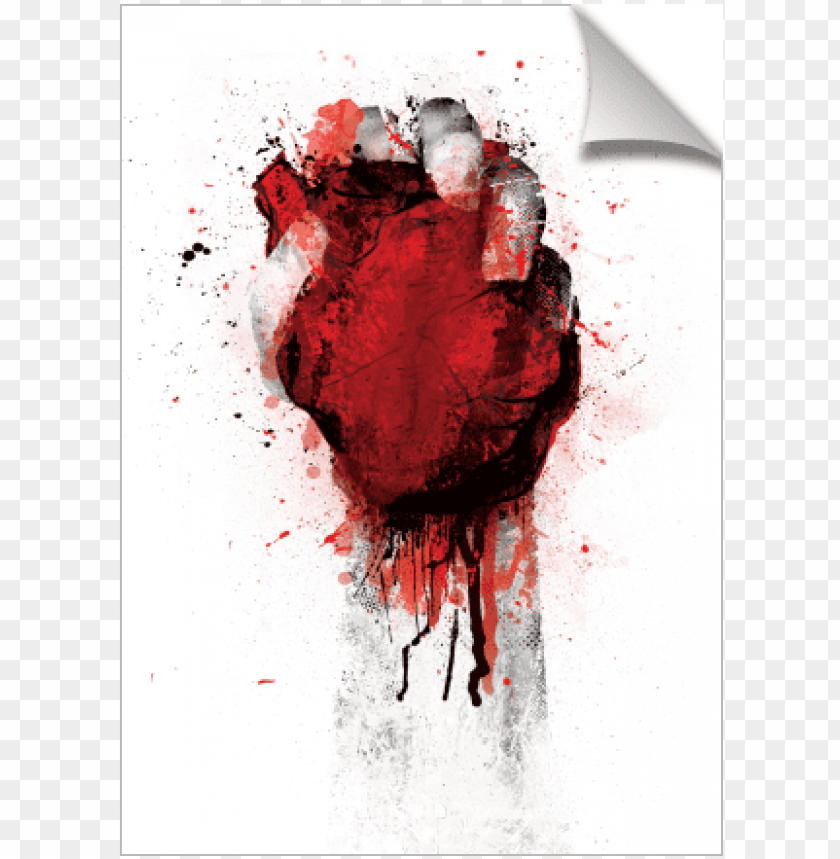 free PNG heart in fist bleeding - gallery-wrapped canvas art print 10 x 16 entitled oh, PNG image with transparent background PNG images transparent