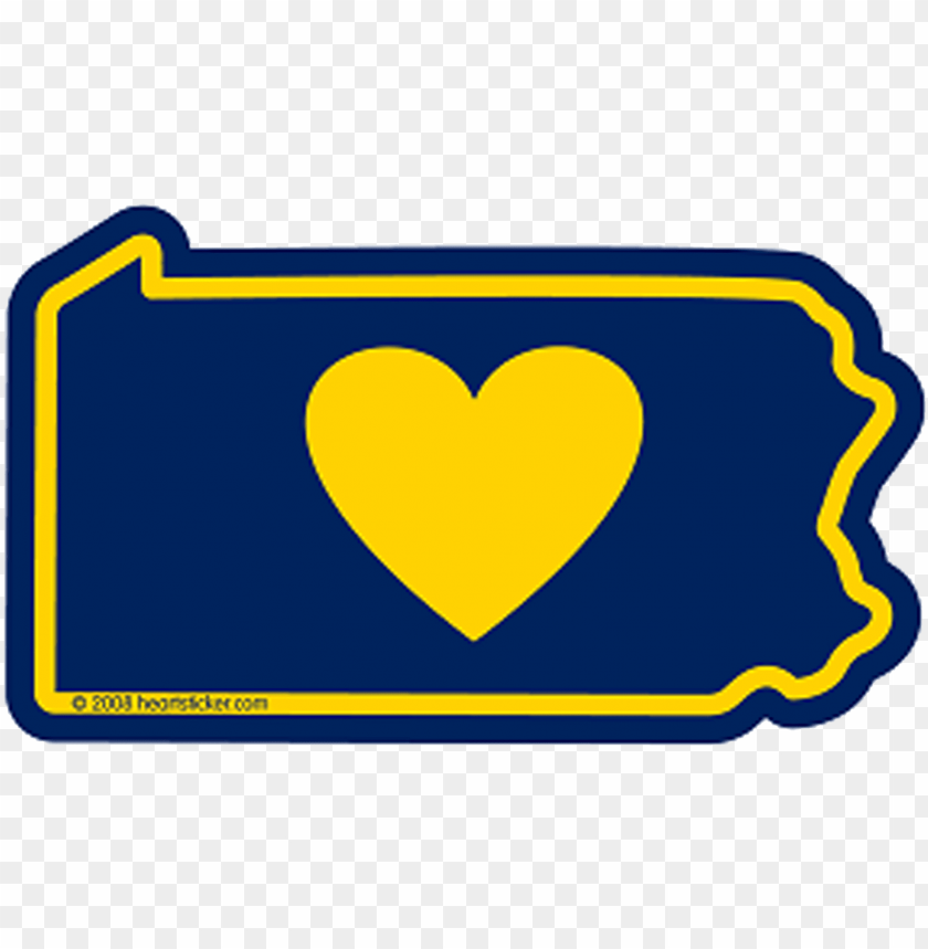 heart in pennsylvania sticker - heartsticker.com heart in pennsylvania sticker PNG image with transparent background@toppng.com