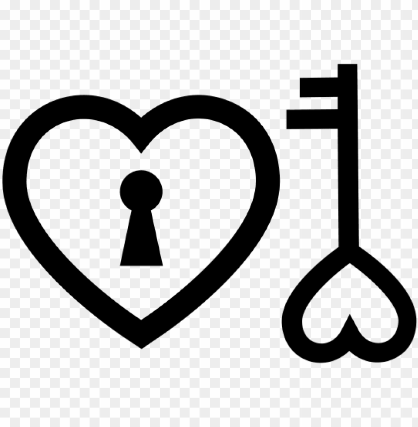 heart key logo PNG image with transparent background@toppng.com