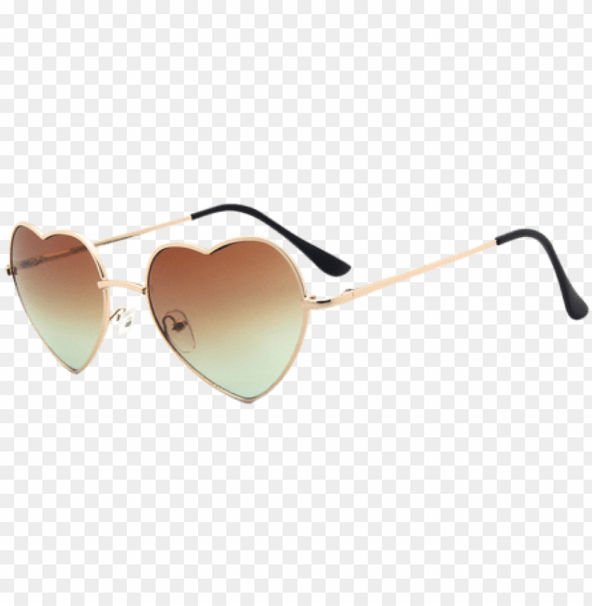 free PNG heart of glass sunglasses - hot heart-shaped sunglasses retro sun glasses reflective PNG image with transparent background PNG images transparent