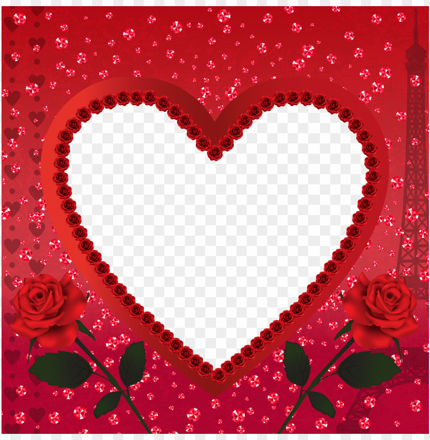 free PNG heart romantic love in parisframe background best stock photos PNG images transparent
