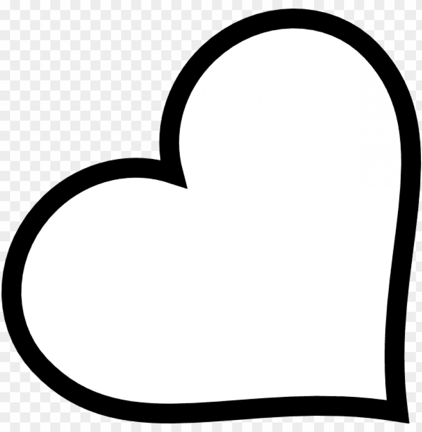 free PNG heart shape outline source - heart outline clipart black and white PNG image with transparent background PNG images transparent