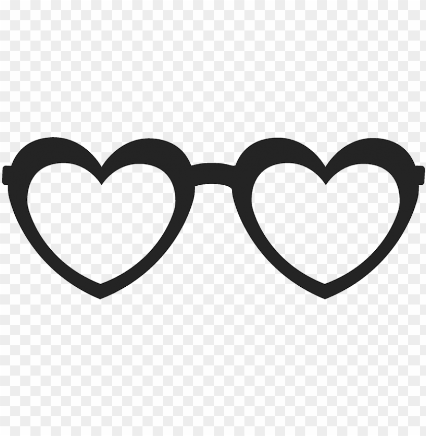 free PNG heart-shaped glasses stamp - heart shaped glasses transparent PNG image with transparent background PNG images transparent