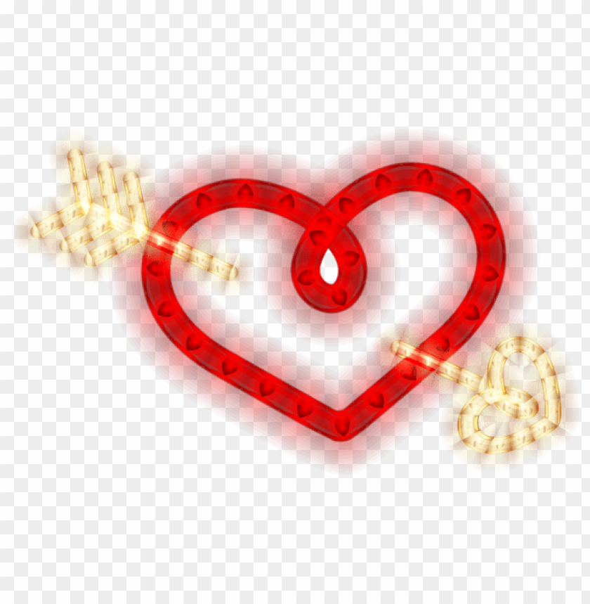 free PNG Download heart with arrow glowing heart png images background PNG images transparent
