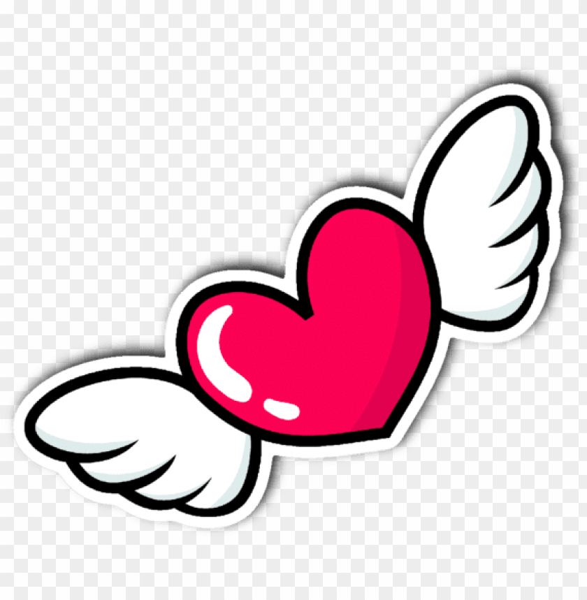 Heart With Wings Vinyl Die Cut Sticker Love Sticker Heart Png Image With Transparent Background Toppng