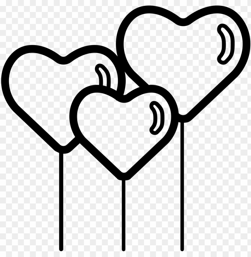 free PNG hearth shape balloons comments - valentine's heart clipart black and white PNG image with transparent background PNG images transparent
