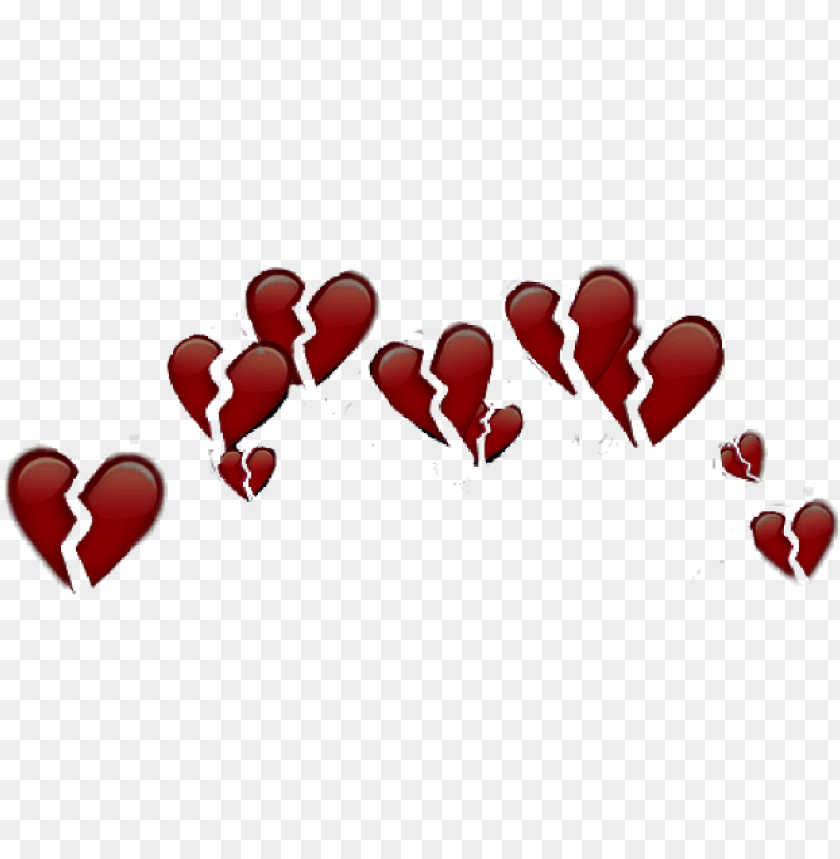 hearts broken emojis apple iphone crown brokenheart - iphone heart emoji crow PNG image with transparent background@toppng.com