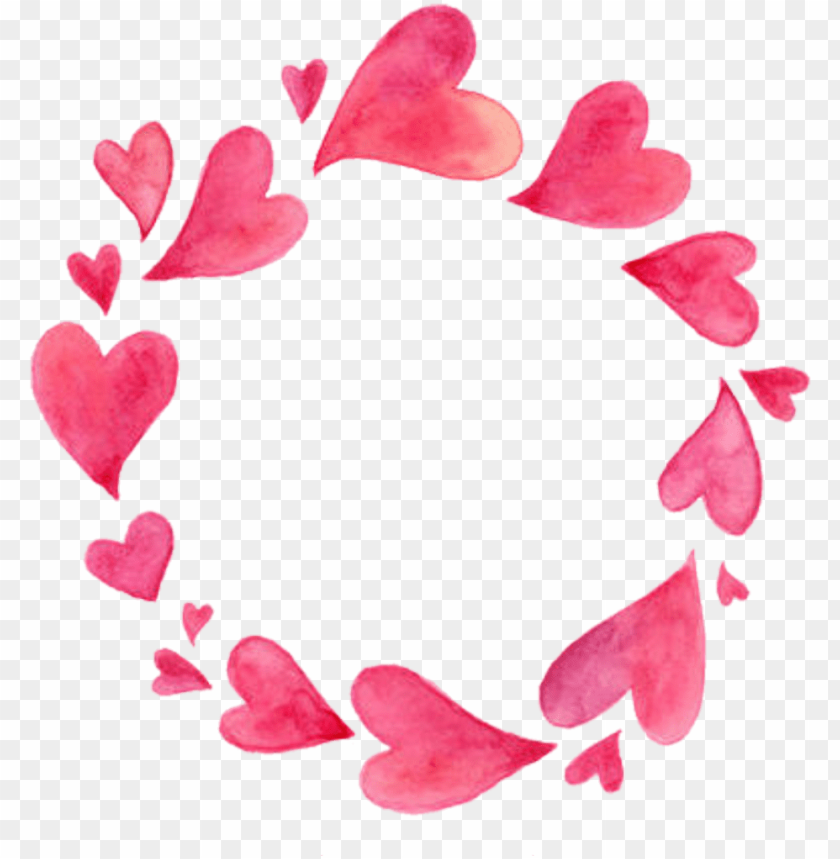 free PNG hearts heart borders frames round frame border love - love watercolor frames PNG image with transparent background PNG images transparent