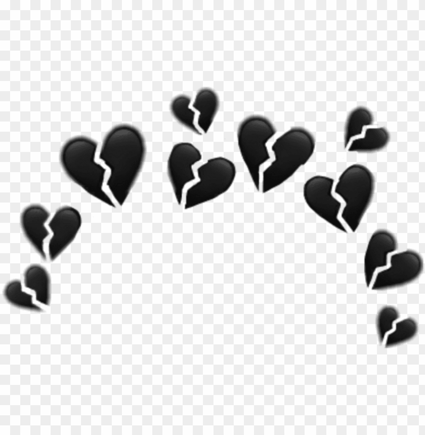 free PNG hearts heartcrown crown heart tumblr whatsapp filter - broken heart emoji crow PNG image with transparent background PNG images transparent