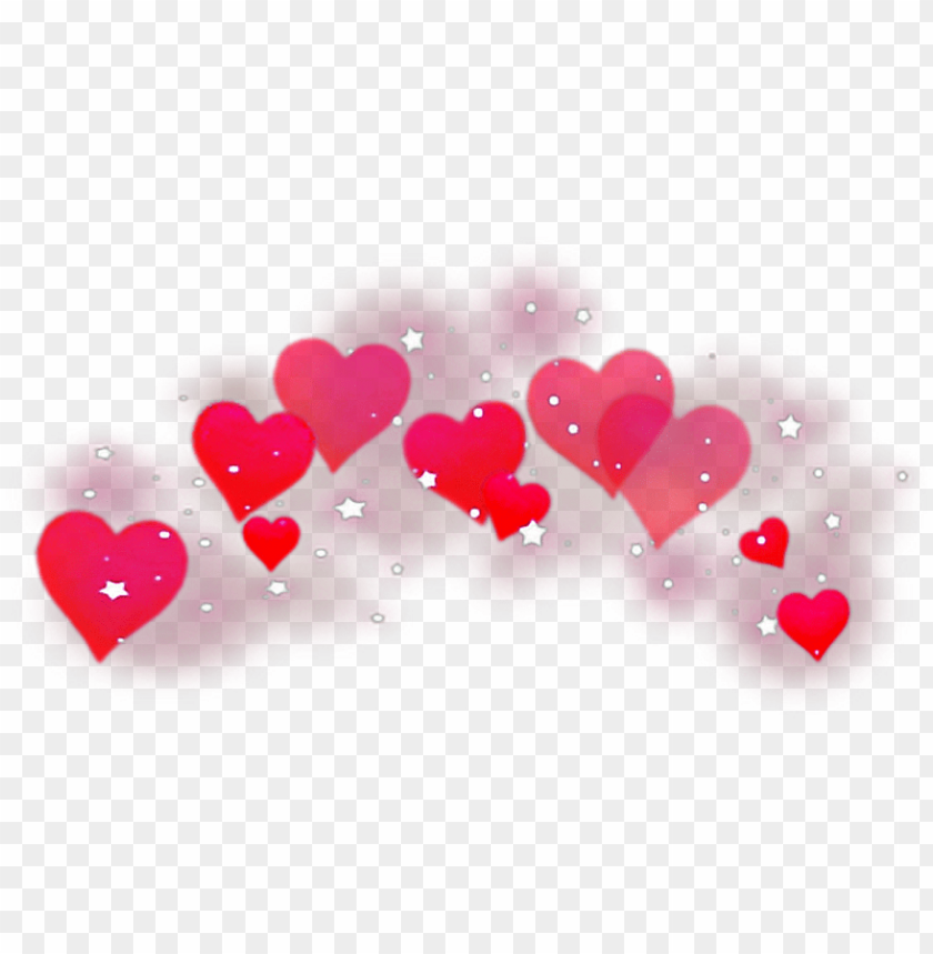 free PNG #hearts #red #redhearts #sparkles #heartcrown #freetoedit - heart crow PNG image with transparent background PNG images transparent