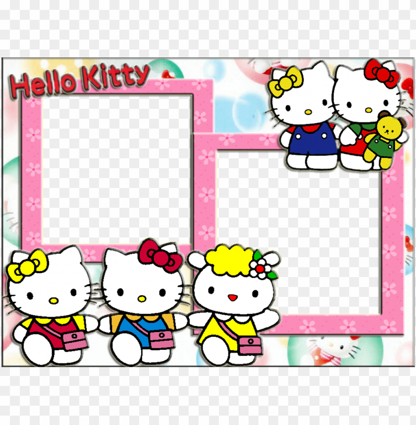 free PNG hello kitty frames - hello kitty frame photosho PNG image with transparent background PNG images transparent
