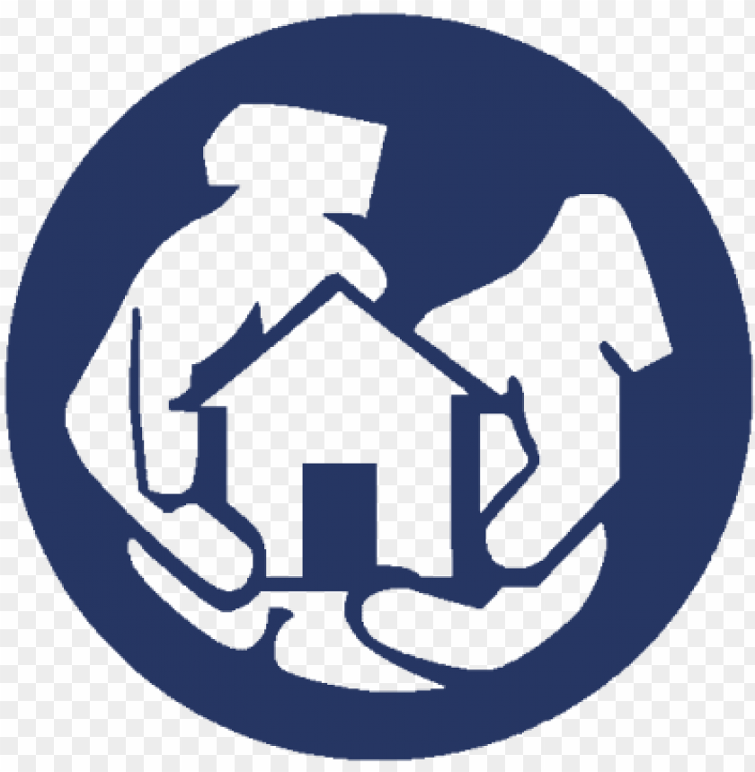 helping hands logo navy new1 - helping hands movi PNG image with transparent background@toppng.com