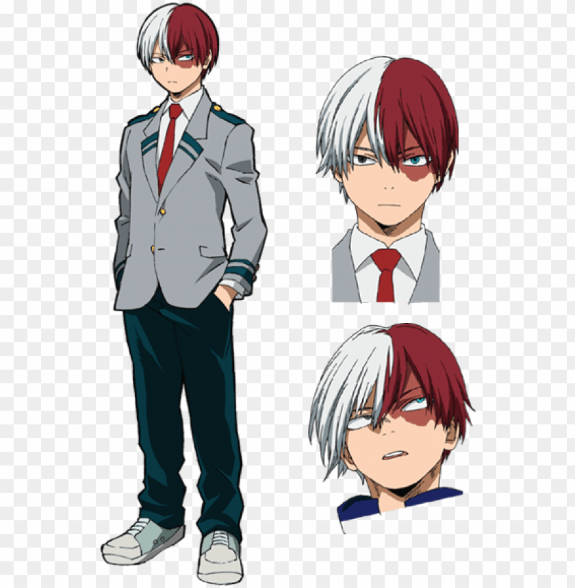 Hero Academia Shoto Todoroki Png Image With Transparent
