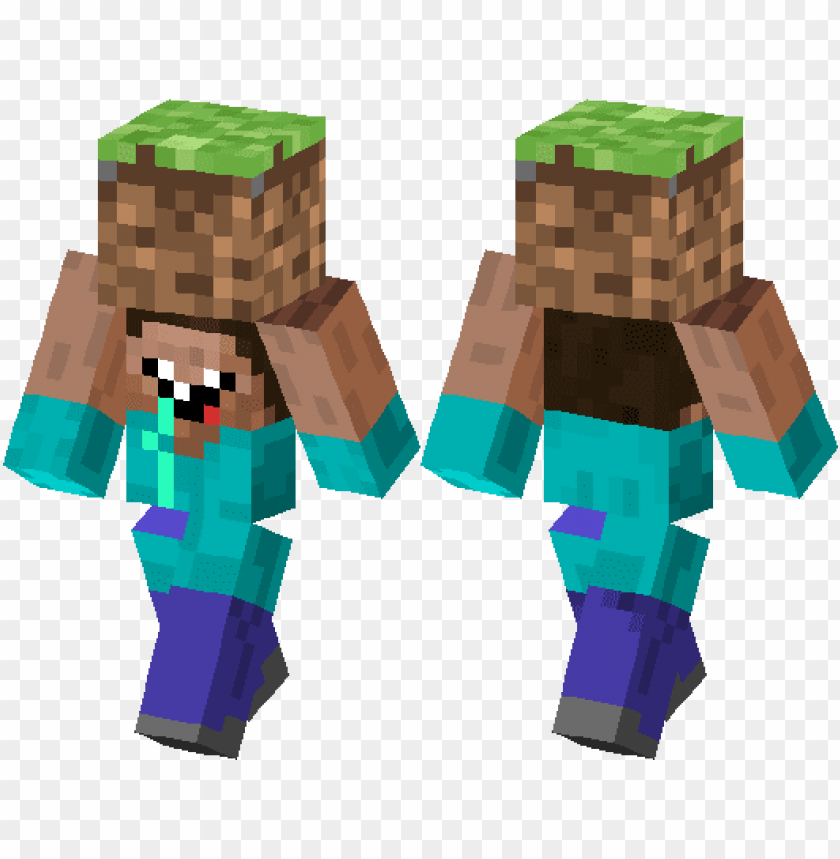herobrine zombie minecraft ski PNG image with transparent background@toppng.com