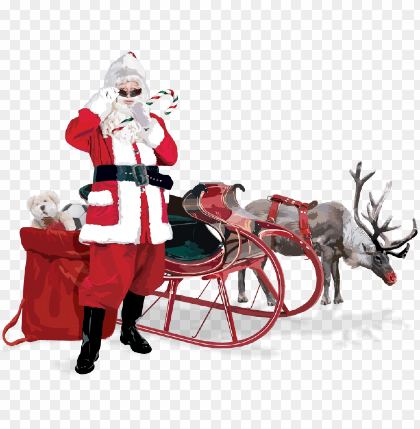 free PNG he's popular across north america, but the santa claus - santa claus deer PNG image with transparent background PNG images transparent