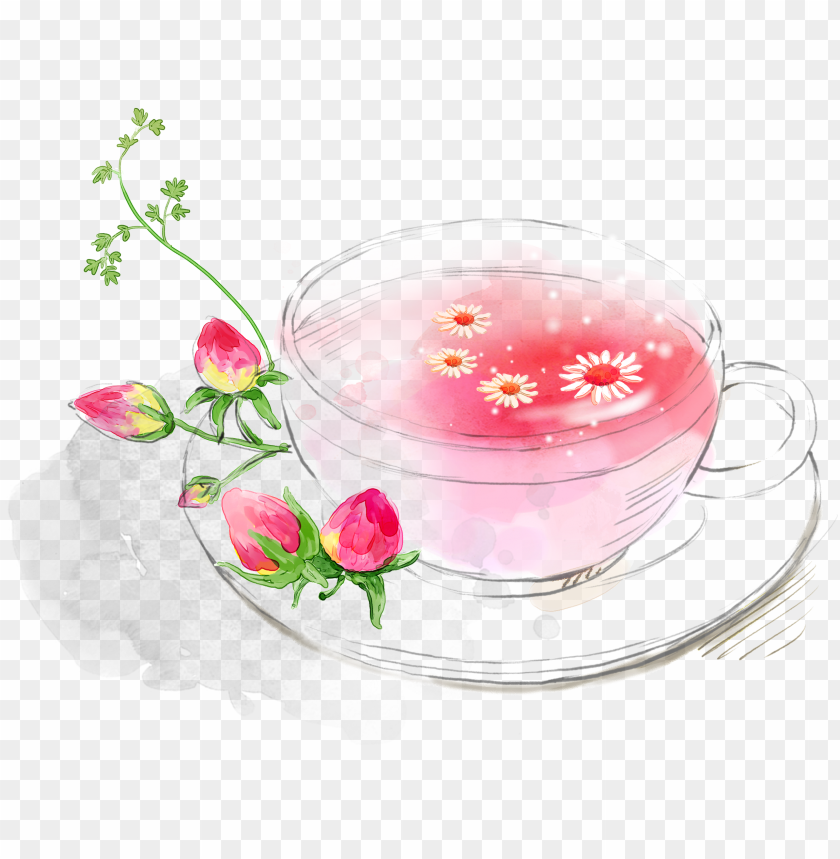 hibiscus tea png - plano de fundo cha flores PNG image with ...