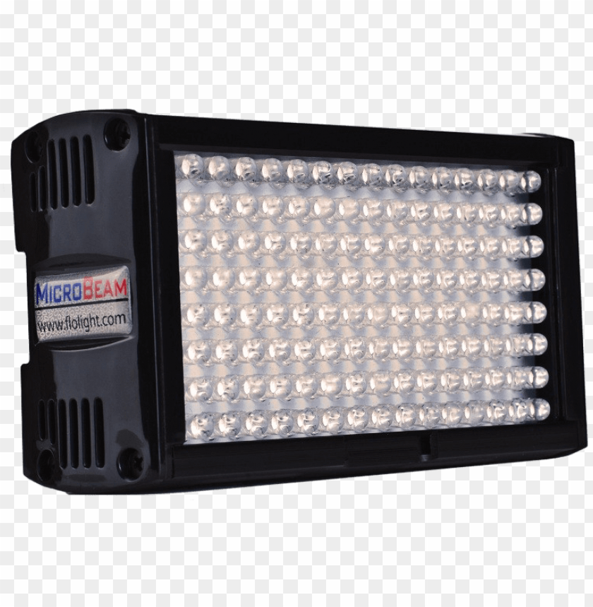 high cri flolight mb128 led - flolight microbeam 128 daylight led on camera video PNG image with transparent background@toppng.com