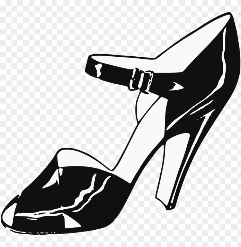 free PNG high-heeled shoe footwear clip art women stiletto heel - ladies shoe clipart PNG image with transparent background PNG images transparent