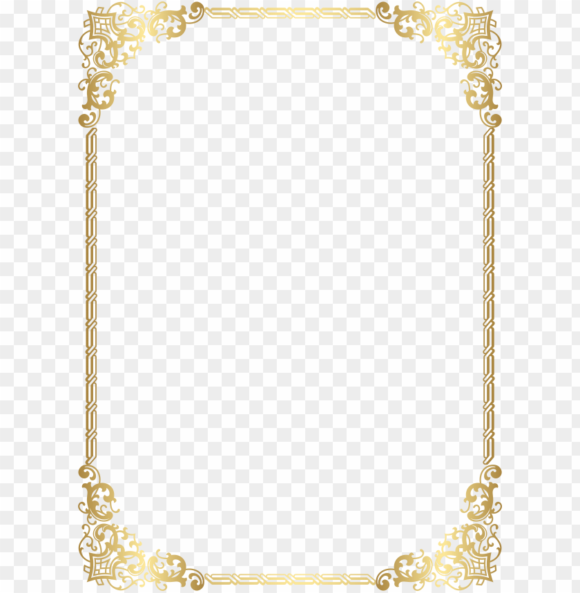 free PNG high quality images, borders and frames, decorative - gold border high resolutio PNG image with transparent background PNG images transparent