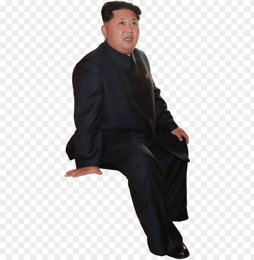 free PNG high res kim bong un meme ready png file - kim jong un sitting PNG image with transparent background PNG images transparent