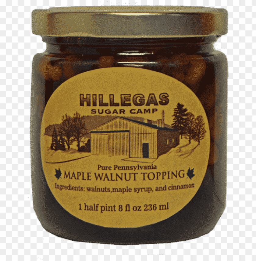 free PNG hillegas sugar camp maple walnut topping halfpint - chutney PNG image with transparent background PNG images transparent
