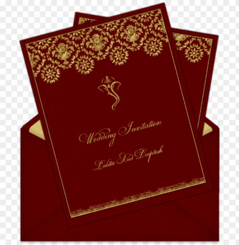 Hindu Indian Wedding Card Design Png Image With Transparent Background Toppng