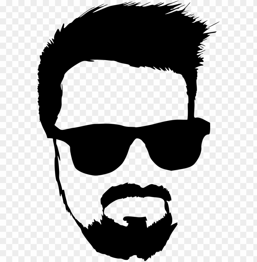 free PNG hipster with sunglasses silhouette png - Free PNG Images PNG images transparent