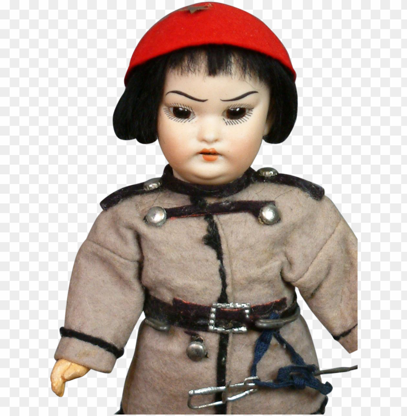 free PNG hoffmeister 4900 asian soldier antique character doll - doll PNG image with transparent background PNG images transparent