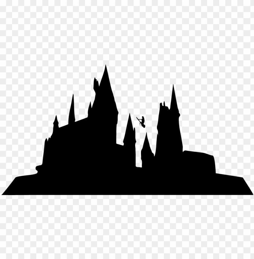 Hogwarts Silhouette Clipart Islands Of Adventure Png Image With